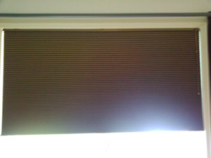 "2 Bali Blinds ⅜"" Double Cell Blackout Cellular Shades 60 ¾ x 36"""