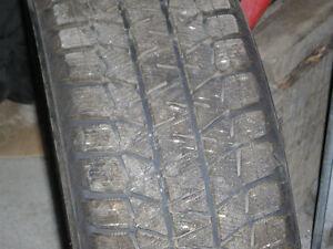 4 Bridgestone Blizzak WS-80 winter tires on rims