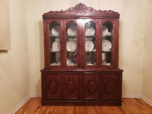Cherry Wood Chest Storage Wall Unit for $1600