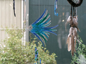 Hand Crafted fused glass wind chime London Ontario image 1
