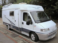 2001 4-berth Hobby 600 motorhome with rear bunk beds SOLD