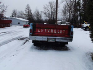 One 1966 Chev  1/2 ton truck box trailer.