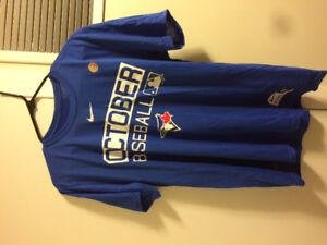 Blue Jays 2017 post season nike dri fit shirt , size medium ,new
