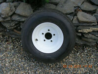 New Boat Trailer Tire on Rim      Watch     |     Share     |