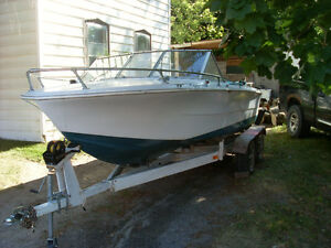 Nice 18' Princecraft with a 165 Merc inboard $2000 or trade