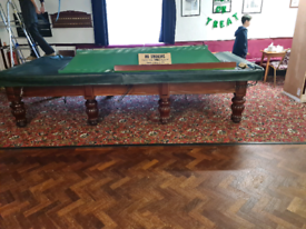 Full size snooker table and light