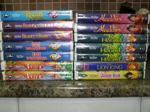 WALT DISNEY BLACK DIAMOND CLASSIC VHS TAPES (RARE)