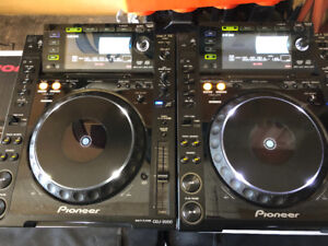 Pioneer CDJ 2000 with boxes and road cases
