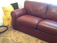 Lovely Leather Sofa Bed £100 SOLD, SOLD, SOLD