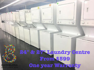 STACKABLE WASHER DRYER FULL SIZE FREE DELIVERY UNTIL SUNDAY