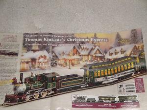 Thomas Kinkade Christmas Express Train Set - Bradford Exchange
