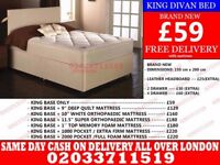 Brand New King Size Divan Bed Available With Mattress Boston