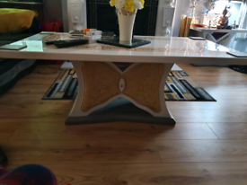 Solid heavy marble coffee table