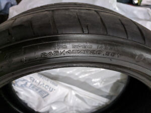 Goodyear Eagle F1 asymetric staggered tires