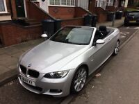 BMW 320D 2.0L M Sports 2008 Sliver Convertible Highline ONO