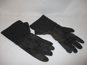 Victory Mens Soft Leather Gauntlet Motorcycle Gloves size Large
