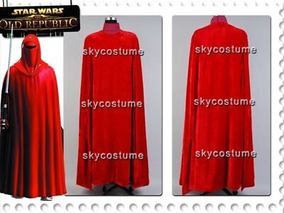 Star Wars:Revenge Sith Emperor Royal Guard Robe Cloak Cosplay Costume Outfit DD](Star Wars Royal Guard Costume)