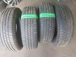 $200-215/70/15  SET Michelin  (tread 90%)