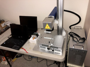 METAL MARKING LASER (spare rotary motor sold - price reduced)