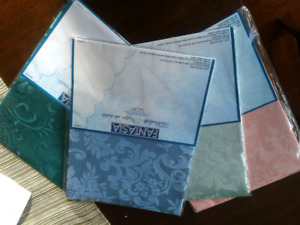 """Brand New Damask Tablecloths Approximately 31"""" Square"""