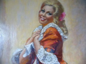 Opera, 'The Barber of Seville' Original Oil by Geoffrey Traunter Stratford Kitchener Area image 6