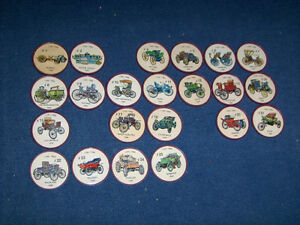 VINTAGE LOT OF 22 JELLO PICTURE WHEELS-CARS-AUTO-1950/60'S