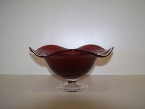 GREG'S ANTIQUES and COLLECTABLES - RUBY GLASS BOWL