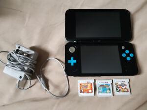 Nintendo DS 3D (2D) Bleu AVEC 3 JEUX