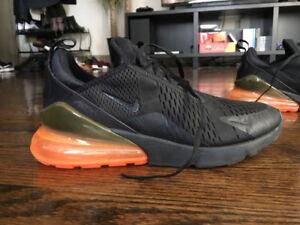Nike Air Max 270 (Black/Orange) - Size 10.5