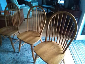 Six dining room chairs