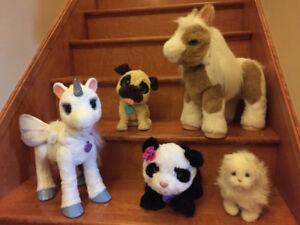 FurReal Pets - Butterscotch, Jumping Pug, Pom Pom +++