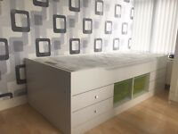 Single bed with drawers and storage