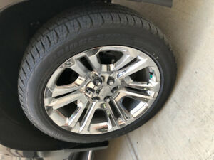 """Brand New 22"""" rims and tires"""