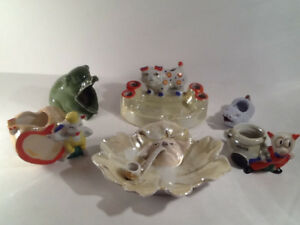 Pig Vintage 1930's-50's Ashtray Collection ( 6 )