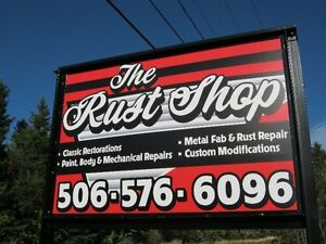 The Rust Shop.  Rust repair & restoration is our specialty!