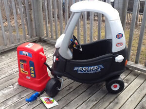Little Tikes Police Car and Little Tikes Fuel Pump.
