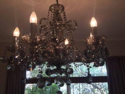 3 crystal chandeliers ceiling lights gumtree australia inner chandeliers aloadofball Image collections