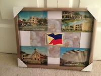 "Various 11x 14"" Framed Old Philippine Postcards"
