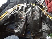 Leather jacket, hardly worn