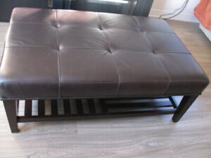 Coffee leather table