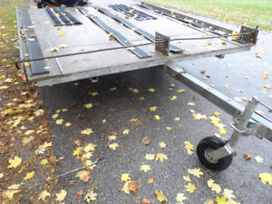 Double Tilt   Snowmobile or  ATV,     Trailer, Tows Great,