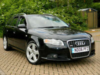 2006 06 Audi A4 AVANT 3.0 TDI S Line Quattro Auto WITH FSH+LEATHER+P/SENSORS