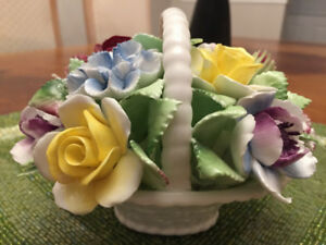 Royal Doulton fine china floral basket bouquet