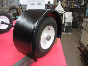 STEEL FENDERS with SET OF TIRES/AXLE & TRAILER HITCH