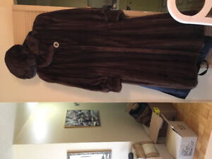 Mink fur coat manteau en fourrure