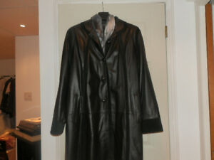 Manteau cuir dames Dimitri leather coat 3 season/saison (20-22)