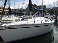1990 Hunter 30, 1/2 share for sale, moored in False Creek