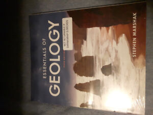 Unopened Essentials of Geology fifth edition textbook