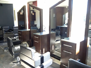 Well furnished high end hair salon