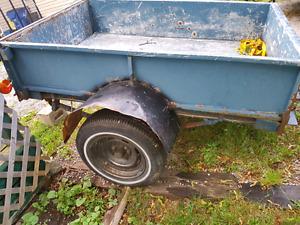 Homemade utility trailer